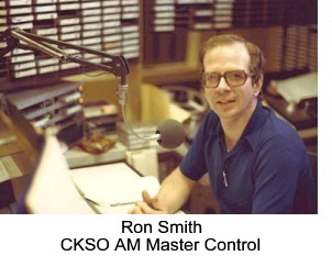 Ron Smith - CKSO AM Master Control - Cambrian Broadcasting Sudbury